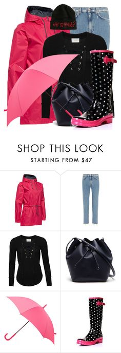 """""""April Showers"""" by amy-brandstatter ❤ liked on Polyvore featuring Columbia, Acne Studios, Lacoste, Hunter, Rainy Days and Hot Topic"""