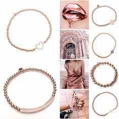 Rosé all day with the rosé golden bracelets💗 www. Hoop Earrings, Rose, Bracelets, Jewelry, Pink, Jewlery, Jewerly, Schmuck, Jewels