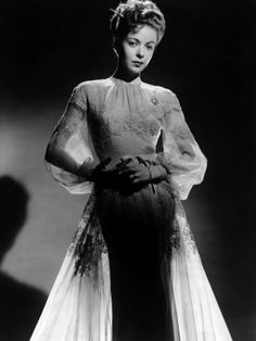 Ida Lupino in beautiful negligee 1940s