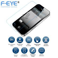FEYE® Apple iPhone 5 Crystal Clear HD Tempered Glass Screen Protector Gurad
