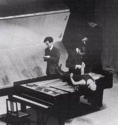 John Cage Piano walk w/ Yoko Ono
