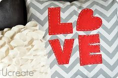 Love Pillow: Tutorial and Template