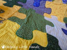 Puzzle piece quilt