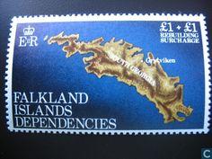 Postzegels - Falklandeilanden - Dependencies - Wederopbouw South Georgia