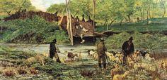 Giovanni Fattori (1825-1908) - Il salto delle pecore | da Occhio Fantastico