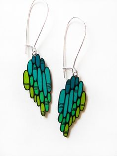 Shrink plastic earrings - Should be able to do with polymer clay too.