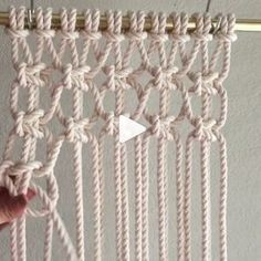 diy macramé, tuto rideau not in English but good demosHow to Tie Macrame KnotsMacrame technique using tshirt strips.Wall panels handmade macramé tNew Best Creative Ideas for Making Painted Rock Painting reasons you should be scrapbooking che Macrame Wall Hanging Diy, Macrame Curtain, Macrame Plant Hangers, Macrame Bag, How To Macrame, Art Macramé, Macrame Chairs, Macrame Design, Macrame Projects