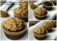 German Chocolate Cupcakes-low carb