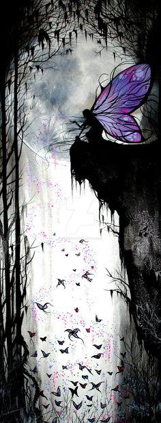 Purple Faerie Painting by Studiohadley
