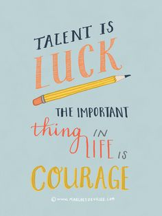 Hand lettering poster (for Light Grey Art Lab, USA), Woody Allen quote. Prints are available!