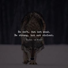 Be soft but not weak. Be strong but not violent. via (http://ift.tt/2EHSh2v)