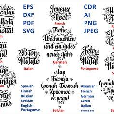Multilingual Christmas Around the World Christmas SVG Bundle