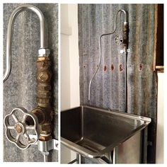 Check out our bespoke #faucet made from #salvaged parts.