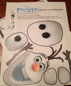 Homemade Cake - Olaf from Frozen - Fun Finds For Families