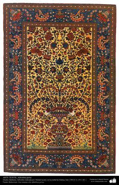 Alfombra persa realizada en la ciudad de Isfahan – Irán en 1911 | Galería de…