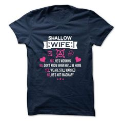 SHALLOW - my wife - #polo shirt #sweater shirt. LIMITED AVAILABILITY => https://www.sunfrog.com/Valentines/-SHALLOW--my-wife.html?68278