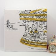 The Carousel - Embroidery - Art Canvas
