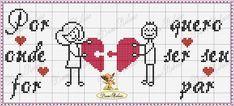 graficos de bordado ponto cruz casais - Pesquisa Google Love Couple, Hama Beads, Diy And Crafts, Valentines, Pillow Talk Cushions, Hand Towels, Wedding Cross Stitch, Sewing Stitches, Cross Stitch Love