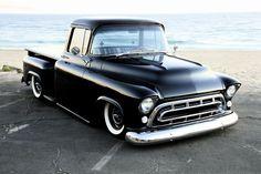 57 Chevy pick up 57 Chevy Trucks, Classic Chevy Trucks, Chevy Pickups, Classic Cars, Chevy Classic, Chevy C10, Dually Trucks, Cool Trucks, Cool Cars