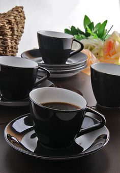 Tilted 12 Pcs Cup & Saucer Set