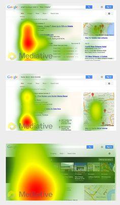 8 octobre 2014 - La société Mediative vient de publier une étude passionnante basée sur l'oculométrie (eye-tracking) et qui analyse la façon dont les internautes regardent par Actualité Abondance Internet Marketing, Online Marketing, Evolution, Ux User Experience, Key Change, Google Search Results, Search Engine Marketing, Local Seo, Content Marketing Strategy