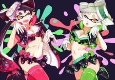 squid sisters by tri-bby.deviantart.com on @DeviantArt