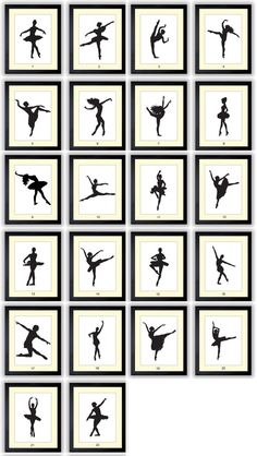 If baby turns out to be a she! Ballet Ballerina Dancer Silhouette Prints Mix by KidsNurseryArt, $1.20