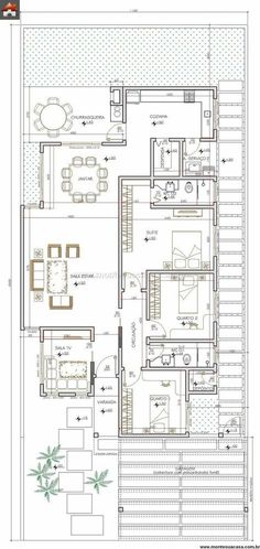 Switch kitchen and porch Modern House Plans, Small House Plans, House Floor Plans, Detail Architecture, Architecture Plan, Duplex House, D House, Plan Ville, Craftsman Floor Plans