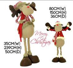 Christmas Commercial Standing Reindeer Decor Home Large Xmas Display 1.5m,2.40m  #SmartDealsMarket
