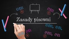 Discover more about Zasady pisowni wyrazów z om, on, em, en ✌️ - Presentation Hand Lettering, Om, Presentation, Polish, Education, Enamel, Handwriting, Manicure, Educational Illustrations