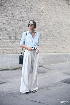 Get this look: http://lb.nu/look/7695604 More looks by Elif Filyos: http://lb.nu/thefashionmedley Items in this look: Zara Shirt, Mango Wide Leg Pants, Stylenanda Round Bag #casual #minimal #street