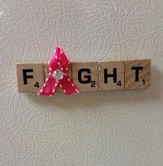 Scrabble Tile Awareness Magnets by lovelycraftingchic on Etsy