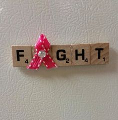 Scrabble Tile Awareness Magnets by lovelycraftingchic on Etsy