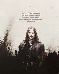 Aragorn. Epical character right here.