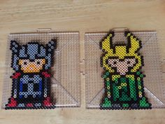 Thor and Loki perler beads by Wintermoon Crafts