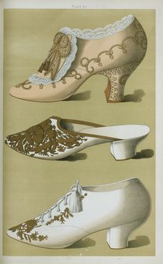 Ladies shoes of the 19th century