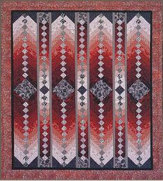 """""""Big Red"""" French braid quilt by Jane Hardy Miller, workshop, Quilt Tallahassee"""