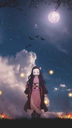 Nezuko Halloween wallpaper by Ballz_artz - 4a - Free on ZEDGE™
