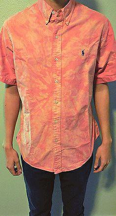 Tie Dye Polo Ralph Lauren // DyeHard // Purchase Here: Boyfriend Shirt, My Outfit, Tie Dye, Polo Ralph Lauren, Men Casual, Dye Shirt, Wardrobe Closet, My Style, Men's Clothing