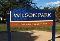 Wilson Park Entry Sign / Danthonia Designs