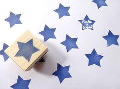 Simple star stamp, Blue star, Make a with stamp, DIY wedding, Wedding guest book, Christmas decor, Handmade stamp, Wrapping paper on Etsy, 1600,00Ft