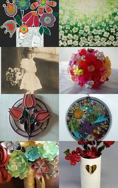 bouquet of flowers by Viсtoria on Etsy--Pinned+with+TreasuryPin.com