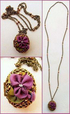Viola odorata -- Sweet violet locket