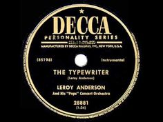1953 HITS ARCHIVE: The Typewriter - Leroy Anderson (instrumental-original version) - YouTube