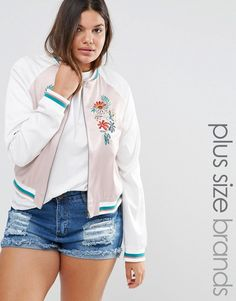 Alice & You Embroidered Bomber Jacket