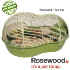 The new eco pico hamster cage from Rosewood, is major innovation in hamster homes: not only does it look unique, it is almost completely bio-degradable, read more. Hamster Cages, Hamster House, Small Hamster, Mouse Cage, Syrian Hamster, Small Animal Cage, Pet Mice, Cute Hamsters, Animal House