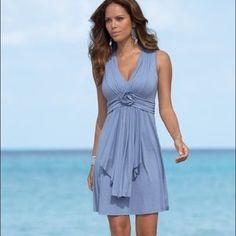 Boston Proper Rosette Dress This beautiful dress is in perfect condition! Boston Proper Dresses
