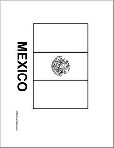 1000 images about mexico on pinterest mexican for Mexican flag coloring page