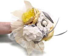 Small Bridal Bouquet Or Toss Bouquet In Your Wedding Colors. $82.59, via Etsy.
