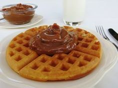 Cocina Sin Gluten: Waffles Foods With Gluten, Gluten Free Recipes, Crepes, Food N, Food And Drink, Pancakes And Waffles, Deli, Free Food, Breakfast